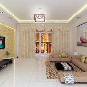 128平米田园风格风格客厅装修效果图