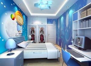 三居室轻快风格儿童房设计装修效果图