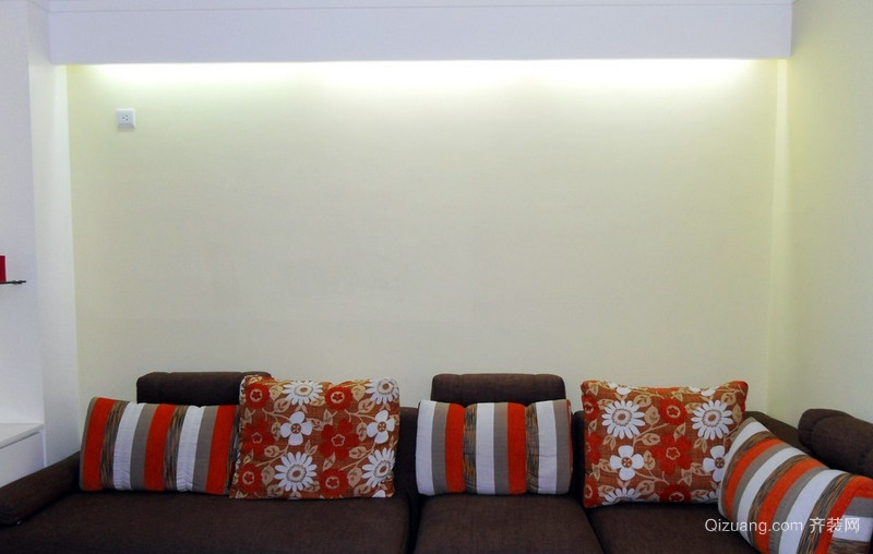 110平米都市风格沙发背景墙效果图