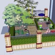 自然风格庭院装修图片