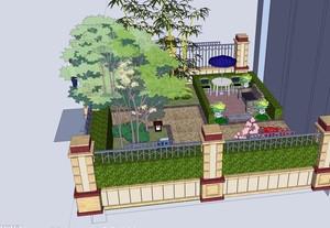 别墅独具匠心庭院设计效果图