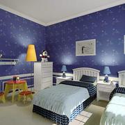 蓝色调墙纸设计大全