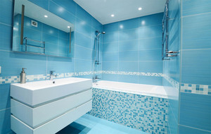 蓝色调浴室设计图片