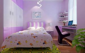 118平米清爽系列儿童房设计装修效果图