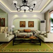 2016创意美式风格样板房装修效果图