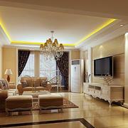 118平米简欧风格客厅装修效果图