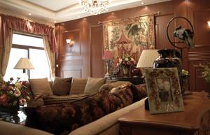 豪华型美式风格样板房装修效果图