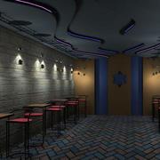 酒吧背景墙装修图片