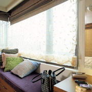 韩式清新简约风格内嵌式阳台榻榻米装饰