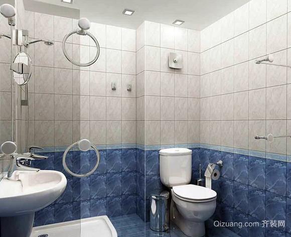 两室一厅现代简约风格卫生间装修效果图