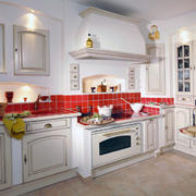 纯白色调厨房造型图