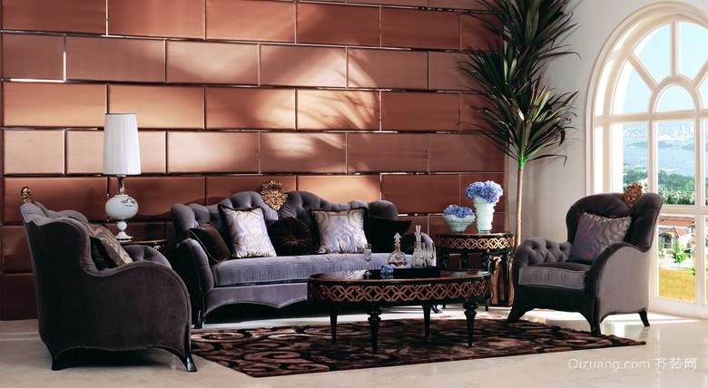 120平米自然风格欧式布艺沙发效果图片