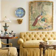 欧式创意沙发背景墙设计
