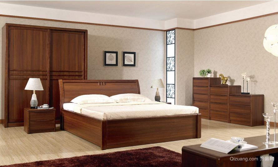 朴素都市两室两厅卧室实木家具装修图片