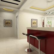 2016风格独特的欧式大户型室内吧台装修效果图