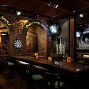 美式简约风格酒吧拱形门装饰