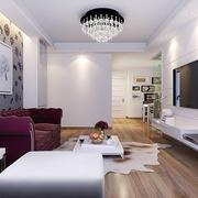 小户型家庭简约客厅背景墙装饰