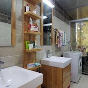 90平米家居卫生间置物架设计装修效果图