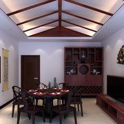 大型复式楼客厅酒柜装饰