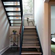 后现代风格深色楼梯装饰