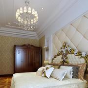 别墅欧式风格卧室奢华床饰家具装修效果图