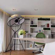 现代简约风格白色系书房装饰
