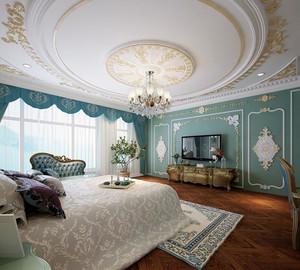 30平米法式浪漫风格卧室装修效果图