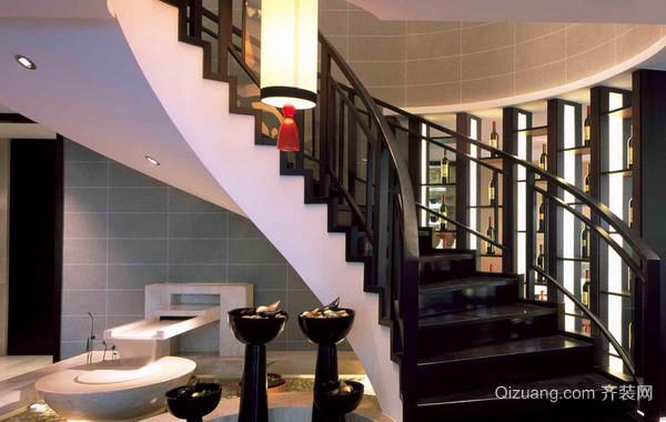 140平米大型复式楼简约楼梯装修效果图