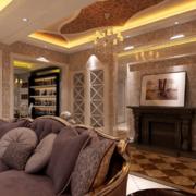 2016精美的大户型欧式唯美室内客厅装修效果图