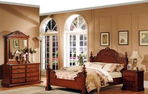 美式田园270㎡小洋房卧室实木家具图片
