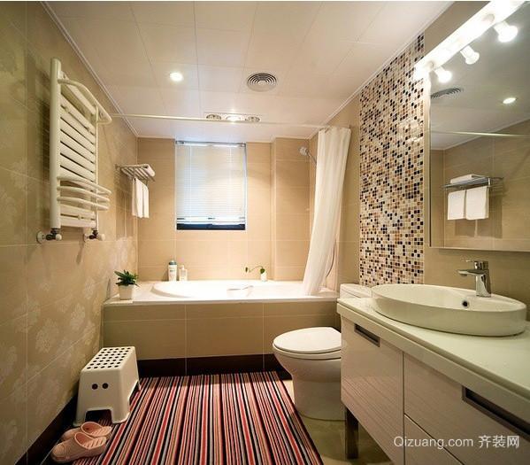 单身公寓小户型卫生间设计装修效果图