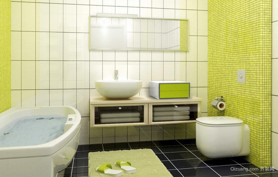 清新欢快现代小卫生间装修设计效果图