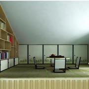 日式30平米阁楼榻榻米书房装修效果图