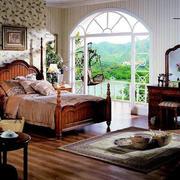 美式乡村简约卧室背景墙装饰