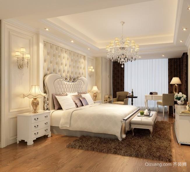 2016唯美的简欧风格小公寓卧室装修效果图欣赏
