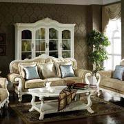 二居室暖色调欧式布艺沙发效果图片