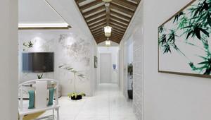 艺术感超强的三居室过道吊顶装修效果图
