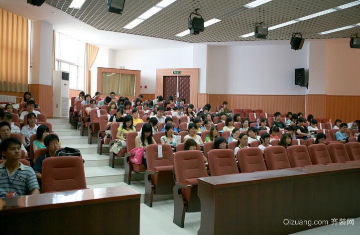 重点高中学习氛围浓厚阶梯教室效果图