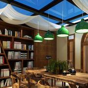 简约风格大型书房装饰