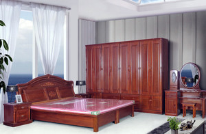 143平米家居卧室实木家具装修效果图片