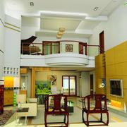 大型中式风格阁楼客厅装修效果图