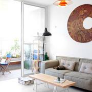 北欧清新风格沙发背景墙设计