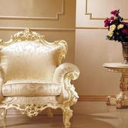 复式楼田园欧式布艺沙发效果图片