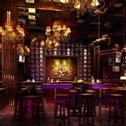 酒吧简约风格桌椅装饰