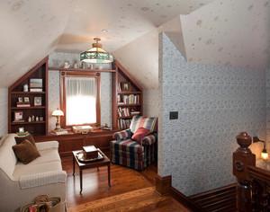 美式小别墅阁楼书房装修效果图大全