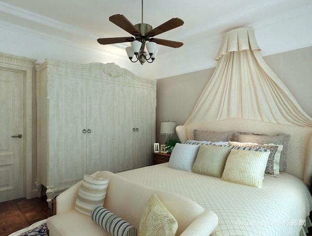 30平米法式白色系卧室装修效果图