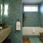 118平米田园风格卫生间毛巾架图片
