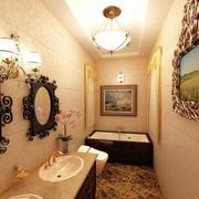 新古典小户型卫生间镜子设计装修效果图