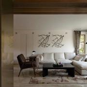 北欧简约风格客厅沙发背景墙装饰