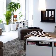 90平米白色系北欧客厅装饰